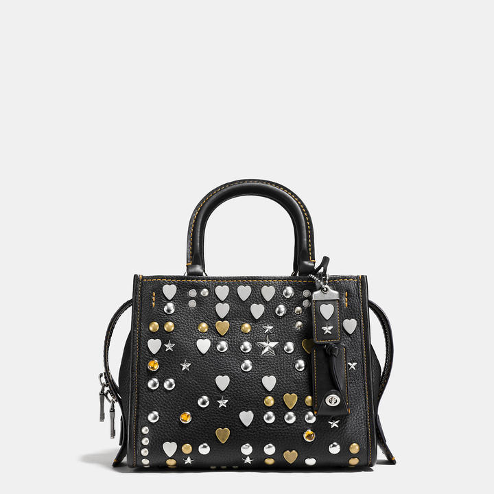 Coach  COACH Coach Rogue 25 In Pebble Leather With Beatnik Rivets