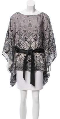 Lafayette 148 Belted Paisley Caftan