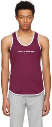 Daniel W. Fletcher Burgundy Contrast Logo Tank Top