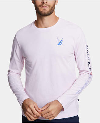 Nautica Men Blue Sail Long-Sleeve T-Shirt