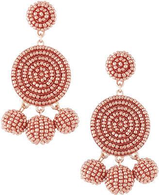 Panacea Round Seed Bead Drop Earrings