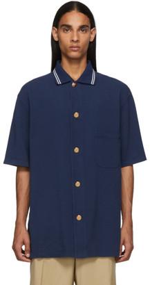 Gucci Blue Logo Buttons Polo