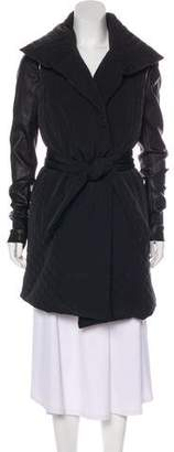 Thomas Wylde Leather-Trimmed Puffer Coat w/ Tags
