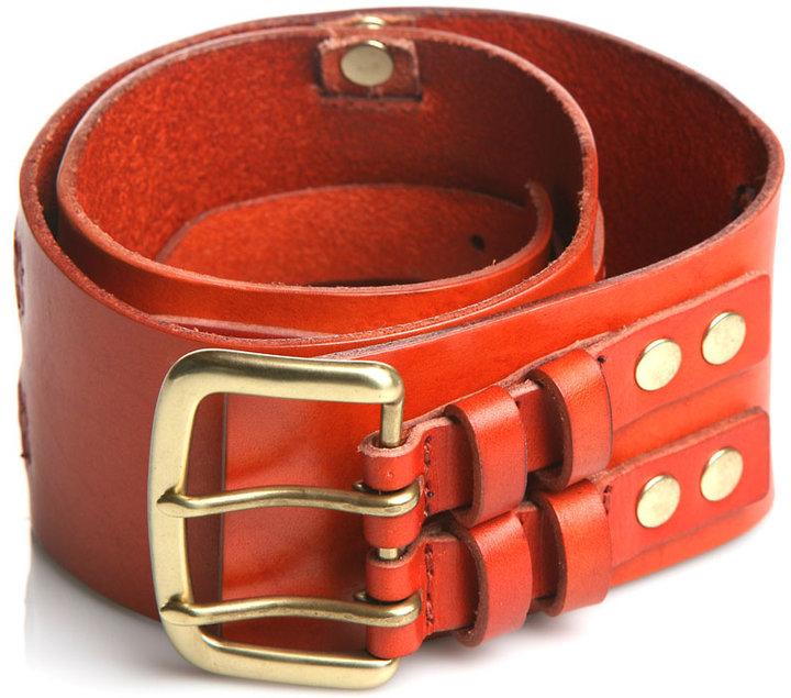 Linea Pelle Collection Double Buckle Wide Waist Belt