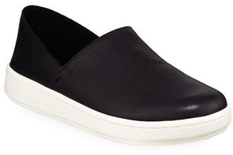 Eileen Fisher Panda 2 Washed Leather Slip-On Sneakers