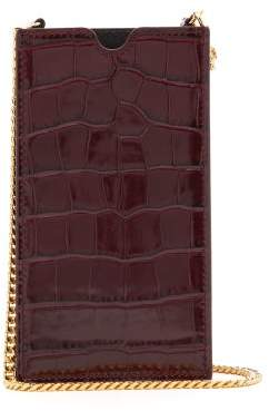 Alexander McQueen Iphone X Case Leather Cross Body Bag - Womens - Burgundy