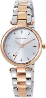 Karl Lagerfeld 34mm Aurelie Bracelet Watch, Two-Tone