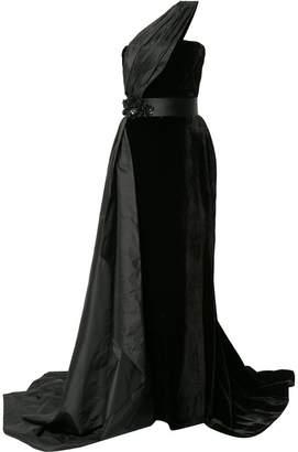 Romona Keveza asymmetric fishtail gown