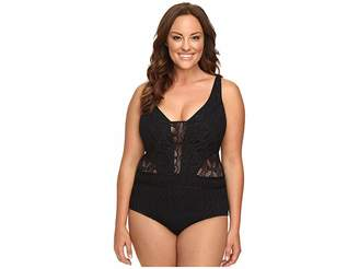 Becca by Rebecca Virtue Plus Size Color Play One-Piece Women's Swimsuits One Piece