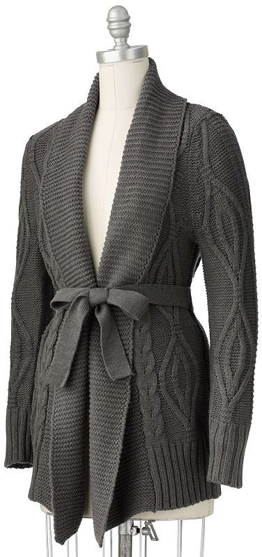 Sonoma life + style® cable-knit open-front cardigan - petite