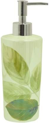 Bacova Guild Waterfall Leaves Ceramic Lotion Dispenser