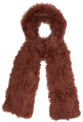 Yves Salomon Shearling Scarf - Womens - Pink