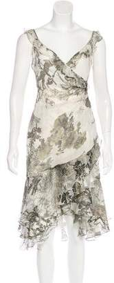Carlos Miele Silk Floral Print Dress w/ Tags