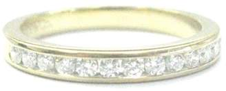 Tiffany & Co. 18K Yellow Gold with 0.24ct Diamond Channel Set Band Ring Size 4
