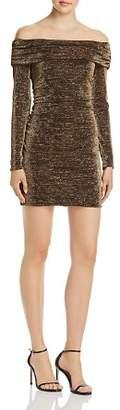 Rachel Zoe Blake Off-the-Shoulder Shimmer Mini Dress - 100% Exclusive