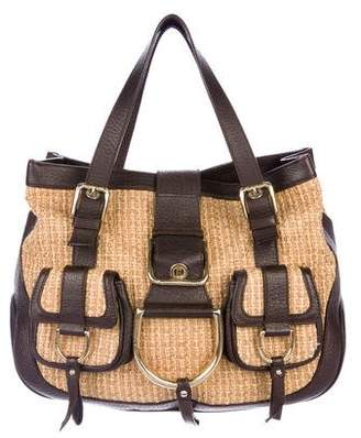 76a49f526e1a Pre-Owned at TheRealReal · Dolce   Gabbana Leather-Trimmed Raffia Tote