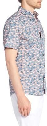 1901 Trim Fit Print Short Sleeve Sport Shirt
