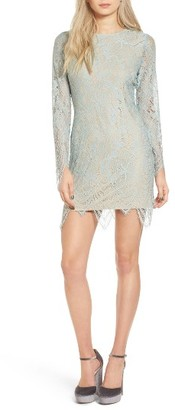 Women's Fire Scalloped Lace Minidress $49 thestylecure.com