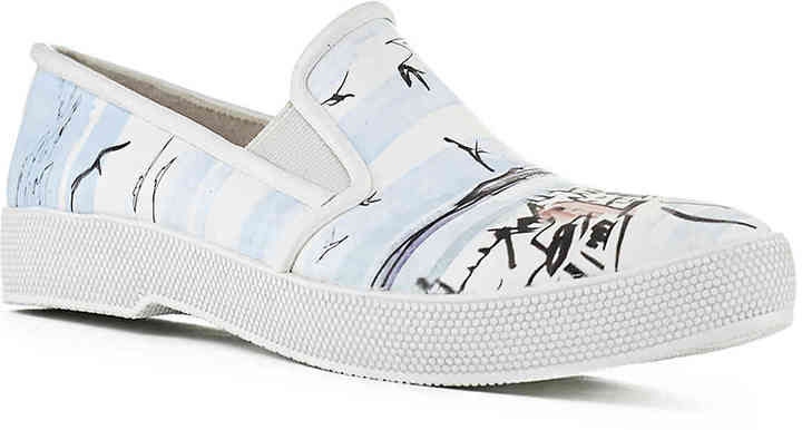 Cougar Women's Cougar Samba Rain Shoe -White/Light Blue/Black