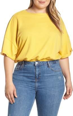 BP Short Sleeve Crop Sweatshirt