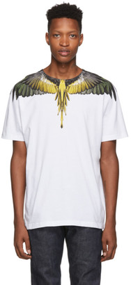 Marcelo Burlon County of Milan White Yellow Wings T-Shirt