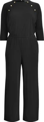 Ralph Lauren Rivet-Trim Jersey Jumpsuit