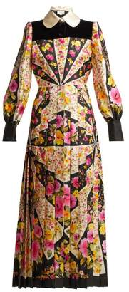 Gucci Floral Print Silk Twill Gown - Womens - Multi
