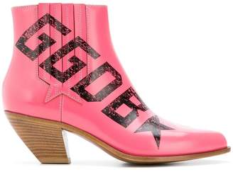 Golden Goose logo ankle boots