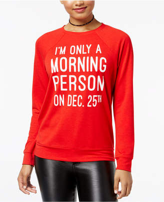 Pretty Rebellious Juniors' Morning Person Graphic Top