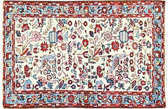"""One Kings Lane Vintage Persian Melayer Bird Rug - 2'7"""" x 4'2"""" - Eli Peer Oriental Rugs"""