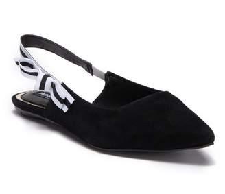 Jaggar FOOTWEAR Slight Pointed Toe Slingback Suede Flat