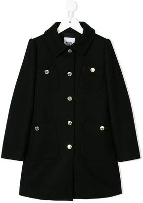 Moschino Kids TEEN button-embellished coat