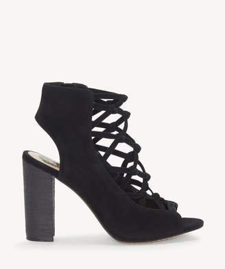 Vince Camuto Women's Stesha Corset Block Heels Sandals Black Size 5 Suede From Sole Society