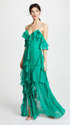 Nicholas Mayflower Cascade Frill Maxi Dress