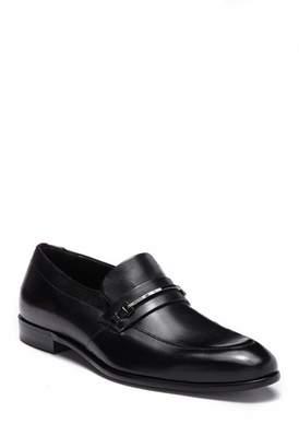 HUGO BOSS Leather & Bit Dress Loafer