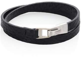 Miansai Sterling Silver & Italian Leather Moore Wrap Bracelet