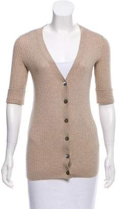 Vince Rib Knit Button-Up Cardigan