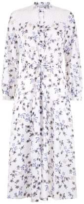 Sandro Midi Floral Print Dress