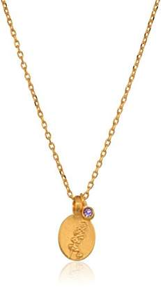 Satya Jewelry Amethyst Gold Pendant 18-Inch Chain Necklace