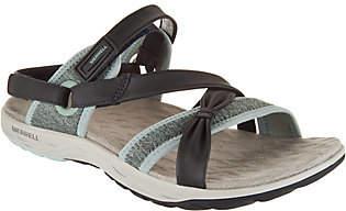 Merrell Leather Sport Sandals - Vesper Lattice