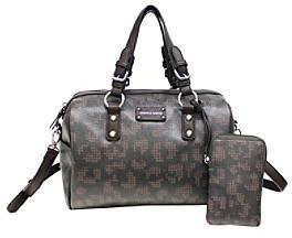 Franco Sarto Dot Leopard Catherine Duffle Bag