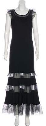 Tadashi Shoji Ruffled Sleeveless Gown