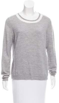 Tibi Wool Scoop Neck Sweater
