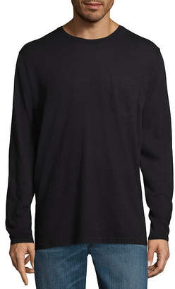 STAFFORD Stafford Long Sleeve Crew Neck Pocket T-Shirt - Big and Tall