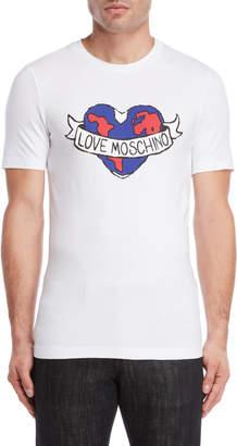 Love Moschino Earth Heart Logo Tee