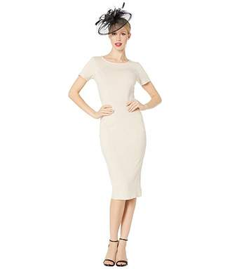Unique Vintage 1960s Short Sleeve Stretch Mod Wiggle Dress