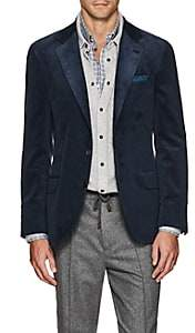 Brunello Cucinelli Men's Cotton Corduroy Three-Button Sportcoat - Navy