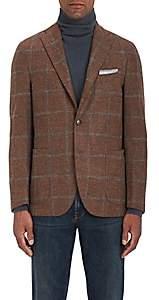 Boglioli Men's Checked Alpaca-Blend Two-Button Sportcoat-Rust