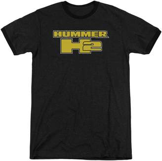 Hummer H2 Block Logo Mens Adult Heather Ringer Shirt 2X