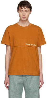 Eckhaus Latta Tan Lapped T-Shirt
